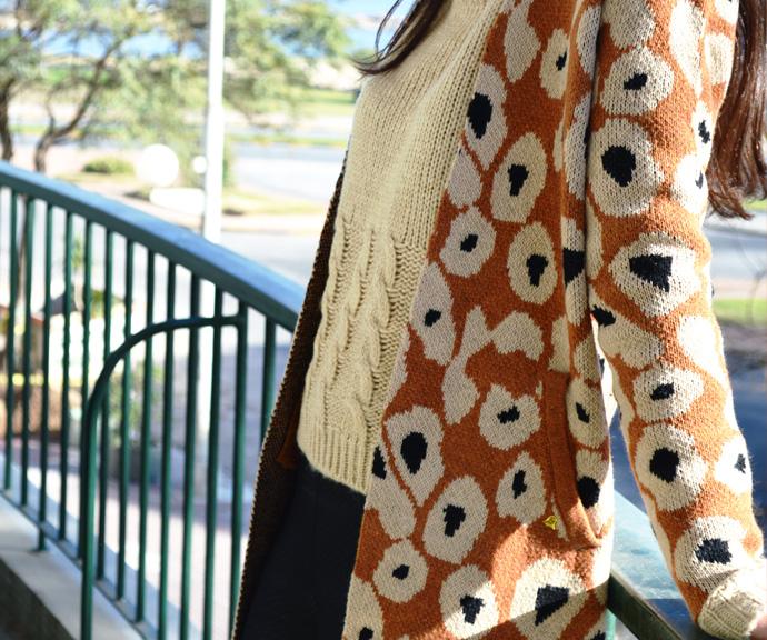 Saco Sweater Animal Print Invierno